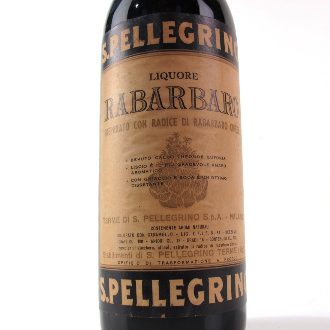San Pellegrino Rabarbaro 1 Litre 1960s