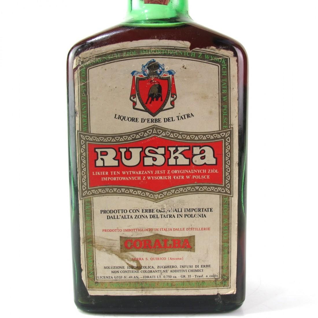 Coralba Ruska Liquore d'Erbe del Tatra 1970s
