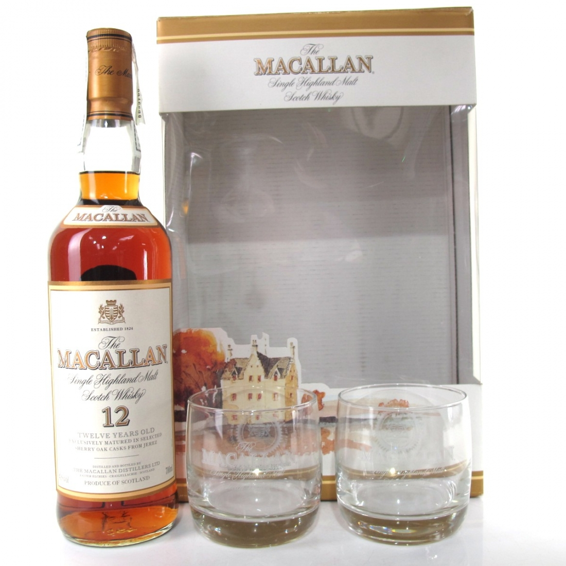 Macallan 12 Year Old / with Glasses x 2