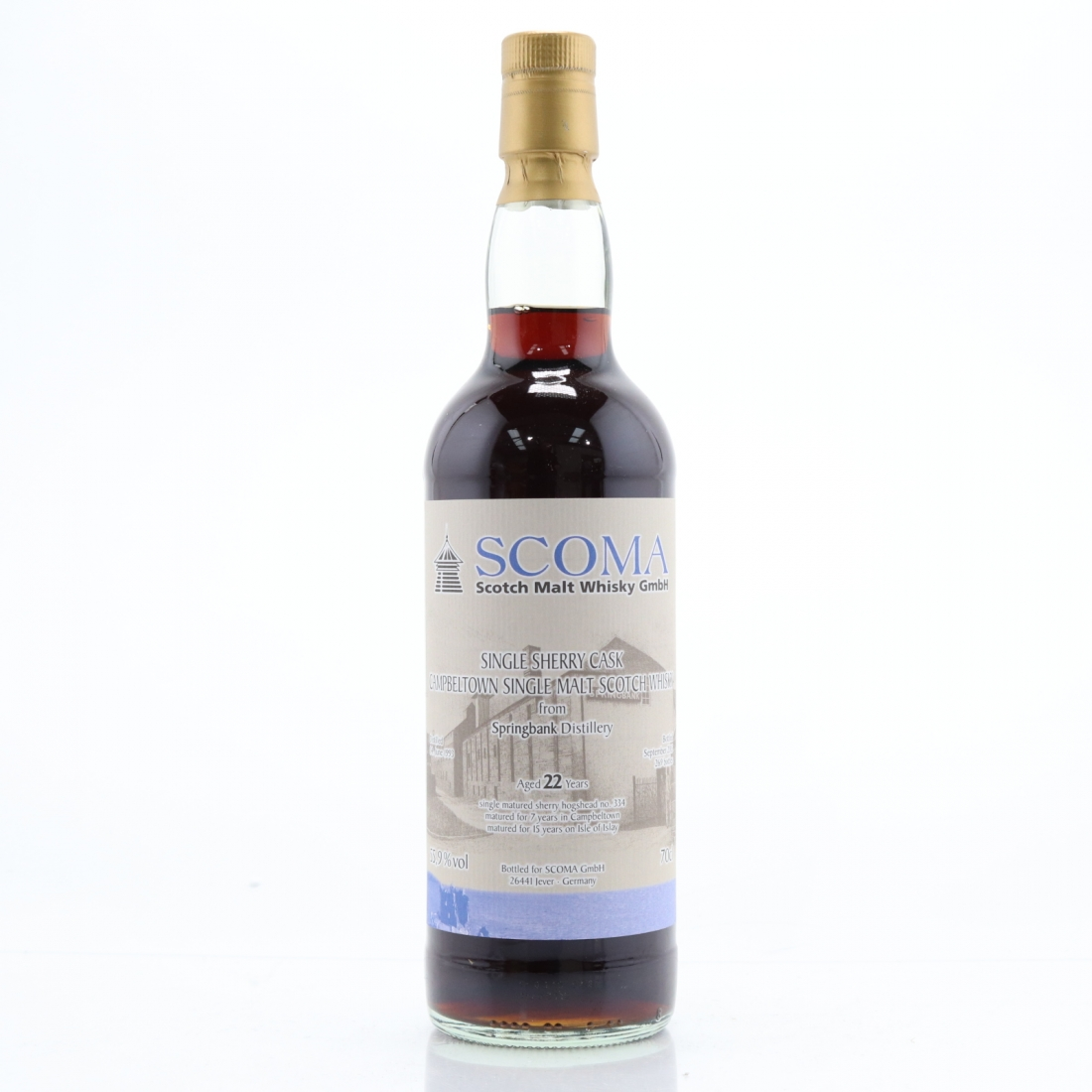 Springbank 1993 Single Cask 22 Year Old / SCOMA GmbH