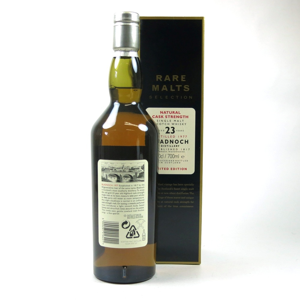 Bladnoch 1977 Rare Malt 23 Year Old Back