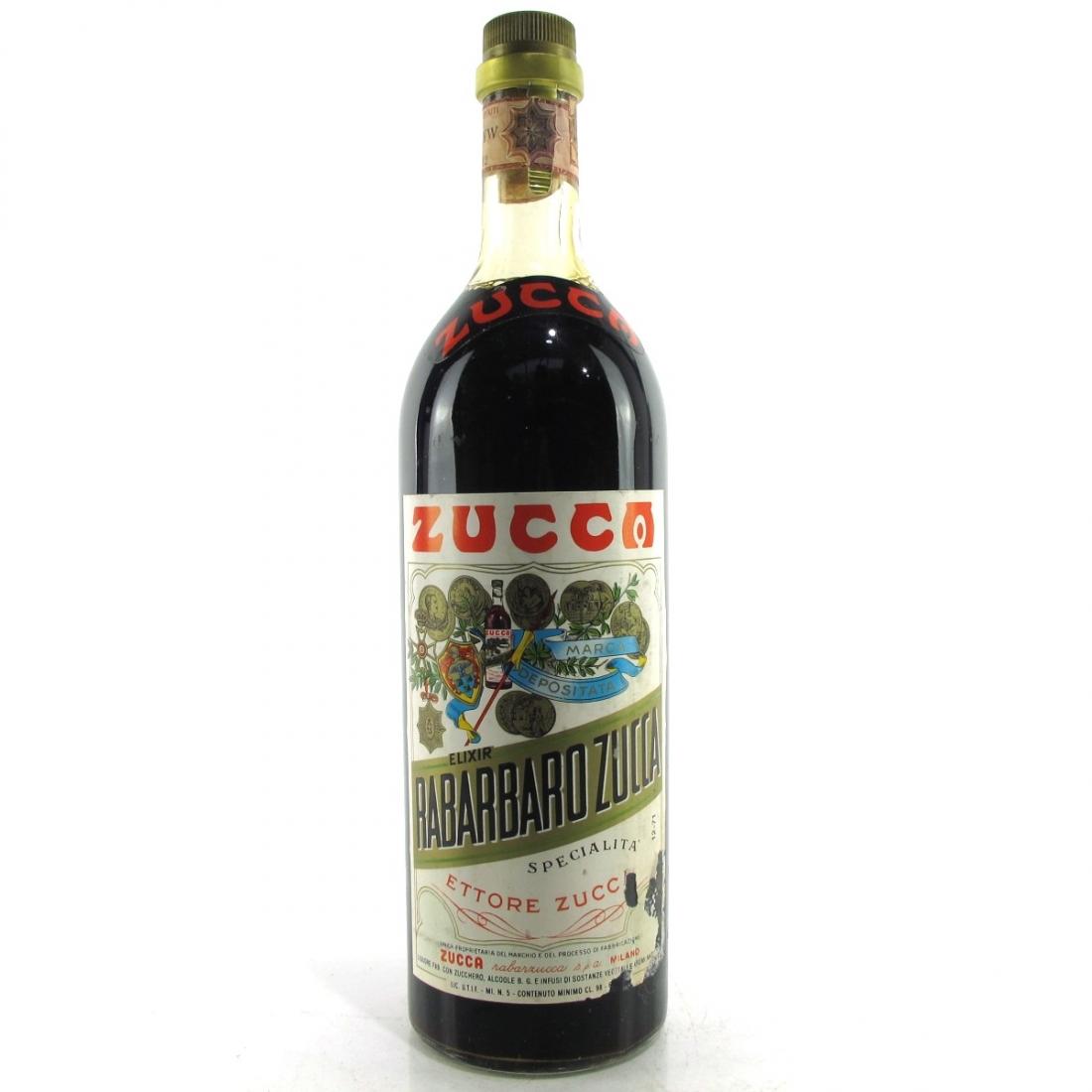 Zucca Elixir Rabarbaro 1970s