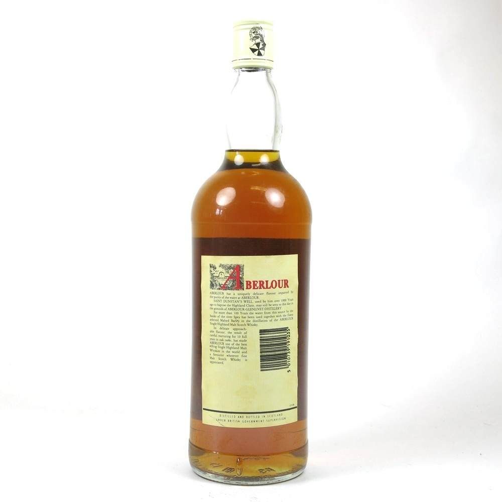 Aberlour 10 Year Old 1 Litre 1980s Back