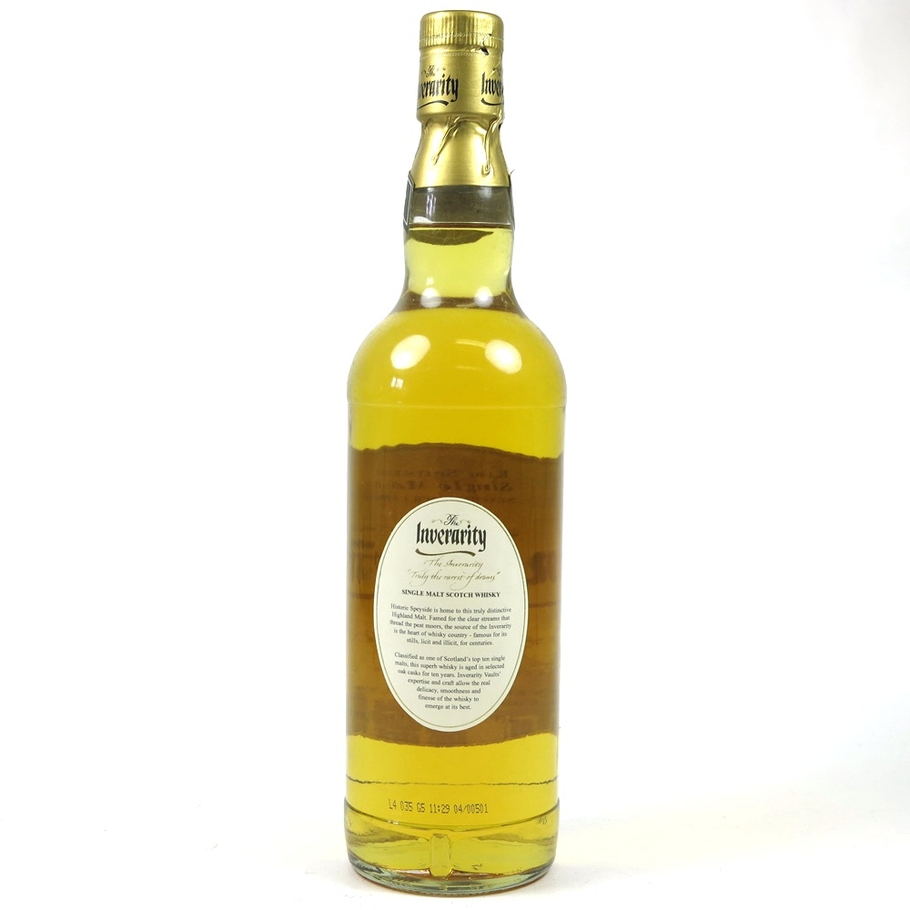 Inverarity 10 Year Old Back