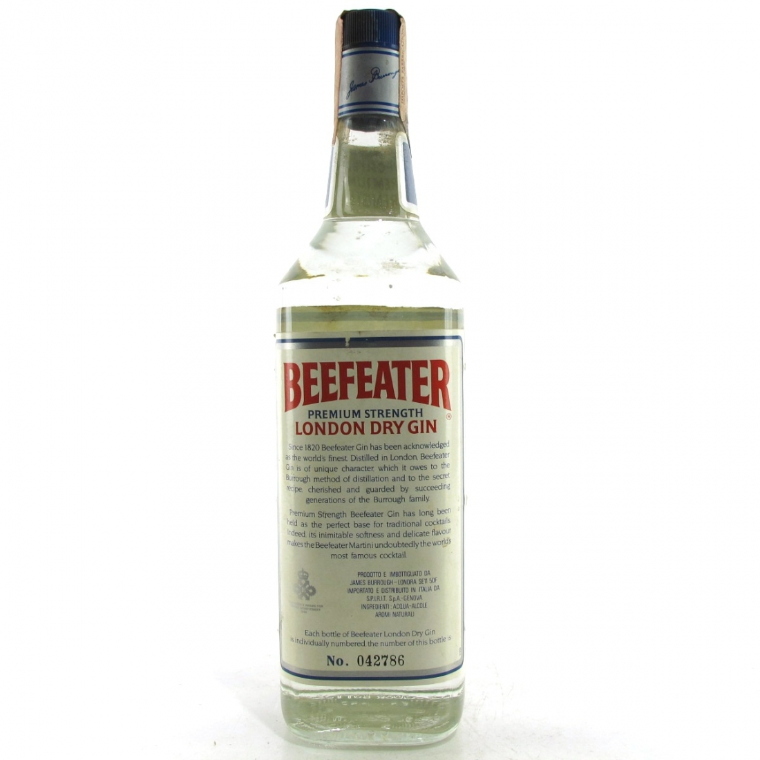 Beefeater London Dry Gin 1 Litre 1970s/80s