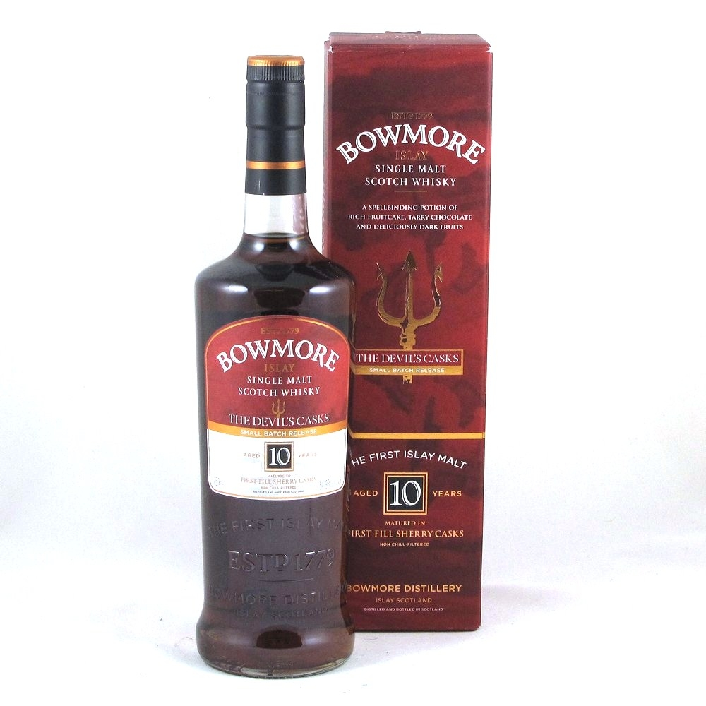 Bowmore Devil's Cask 10 Year Old 75cl Front