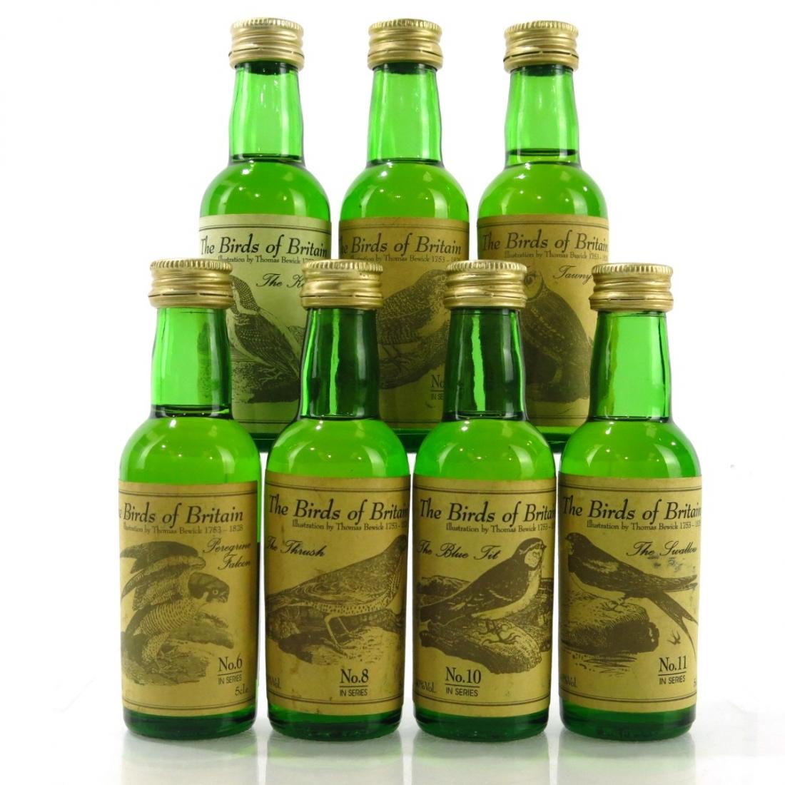 Whisky Connoisseur Birds of Britain Miniatures 7 x 5cl