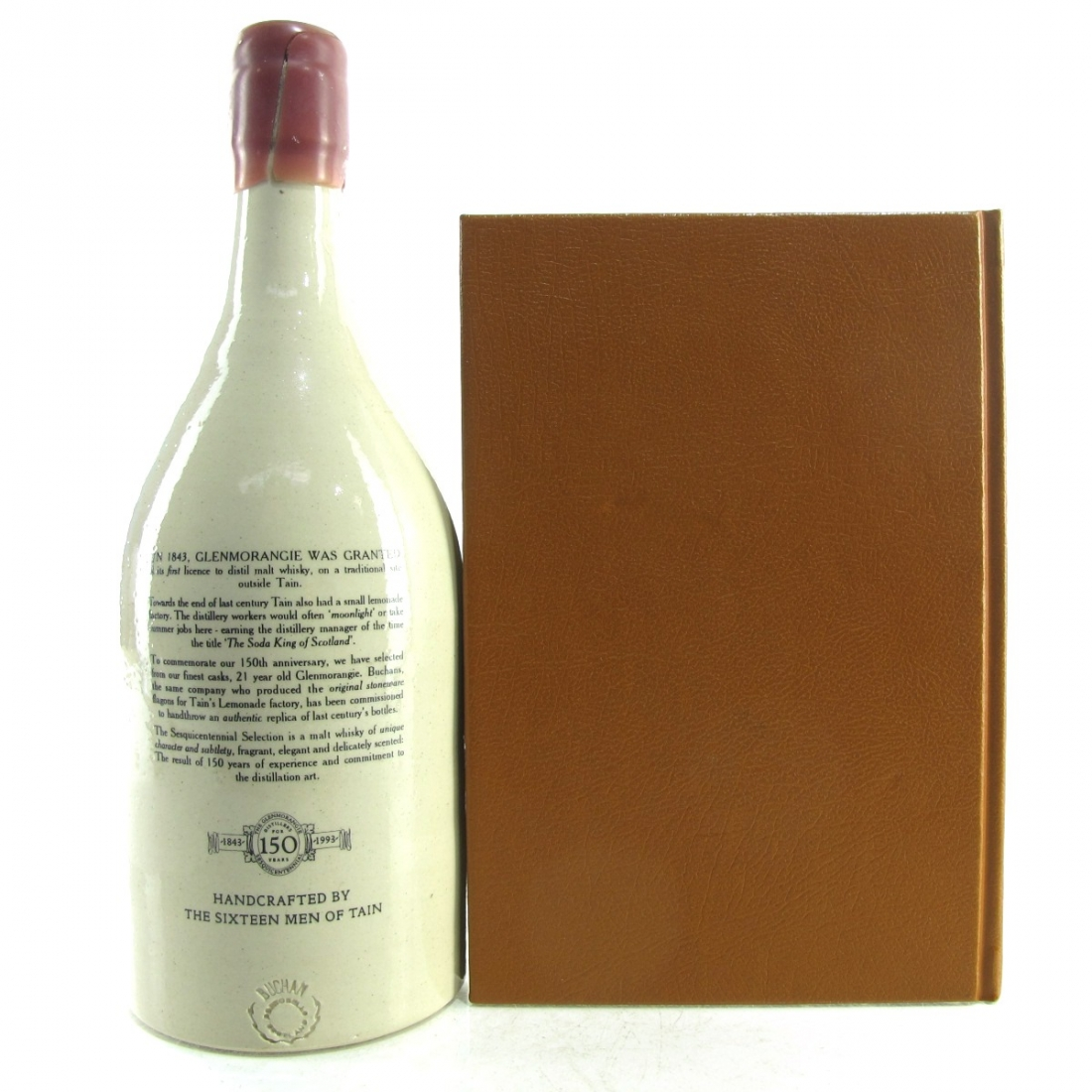 Glenmorangie 21 Year Old Sesquicentennial Decanter / with A Christmas Carol Book