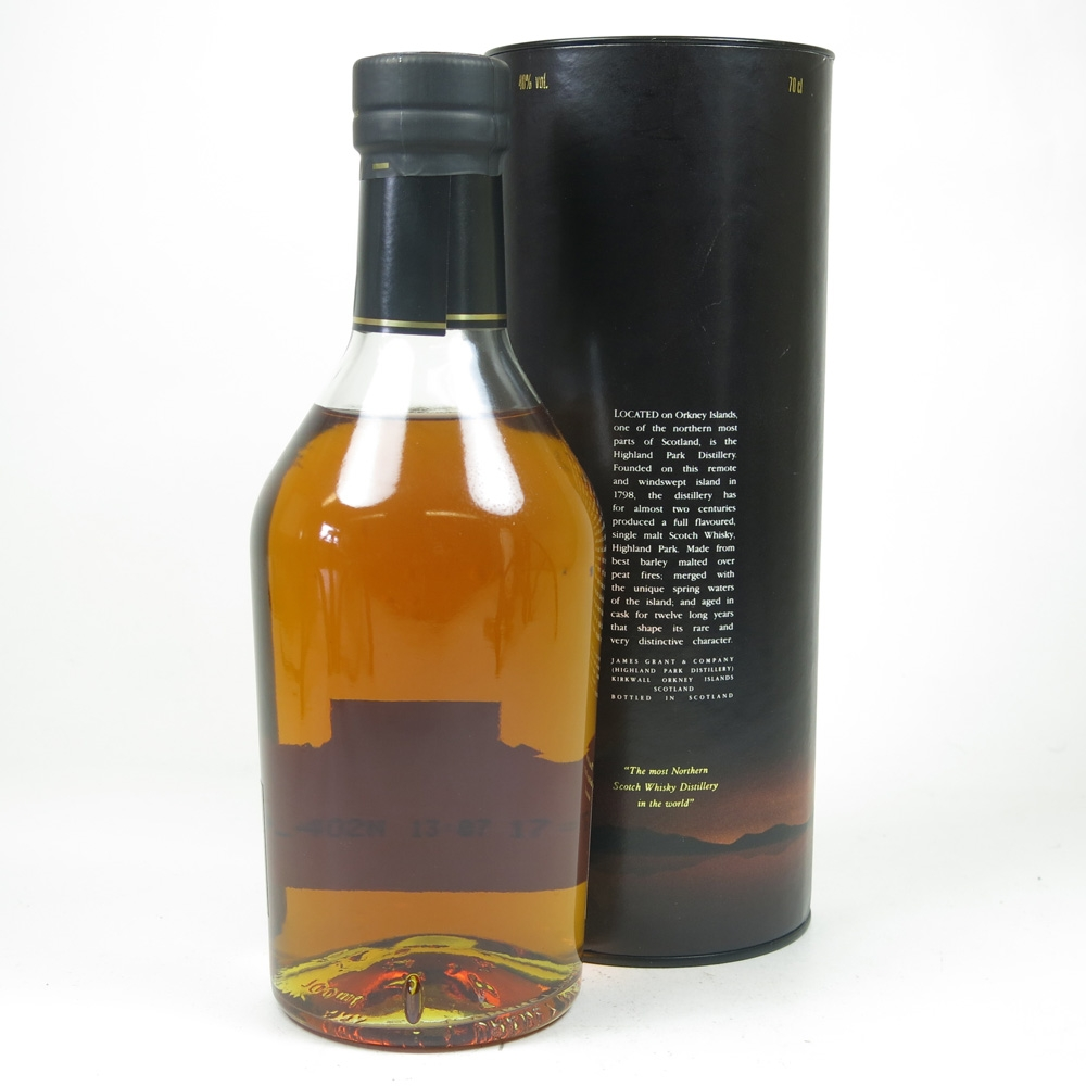 Highland Park 12 Year Old Red 'H' Over Black 1990s