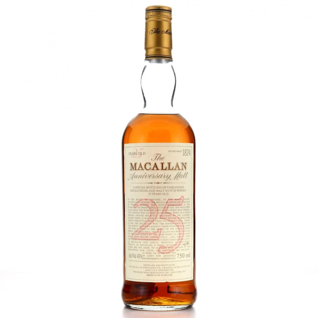 Macallan 25 Year Old Anniversary Malt 1980s / Premiere Wine Merchants, US