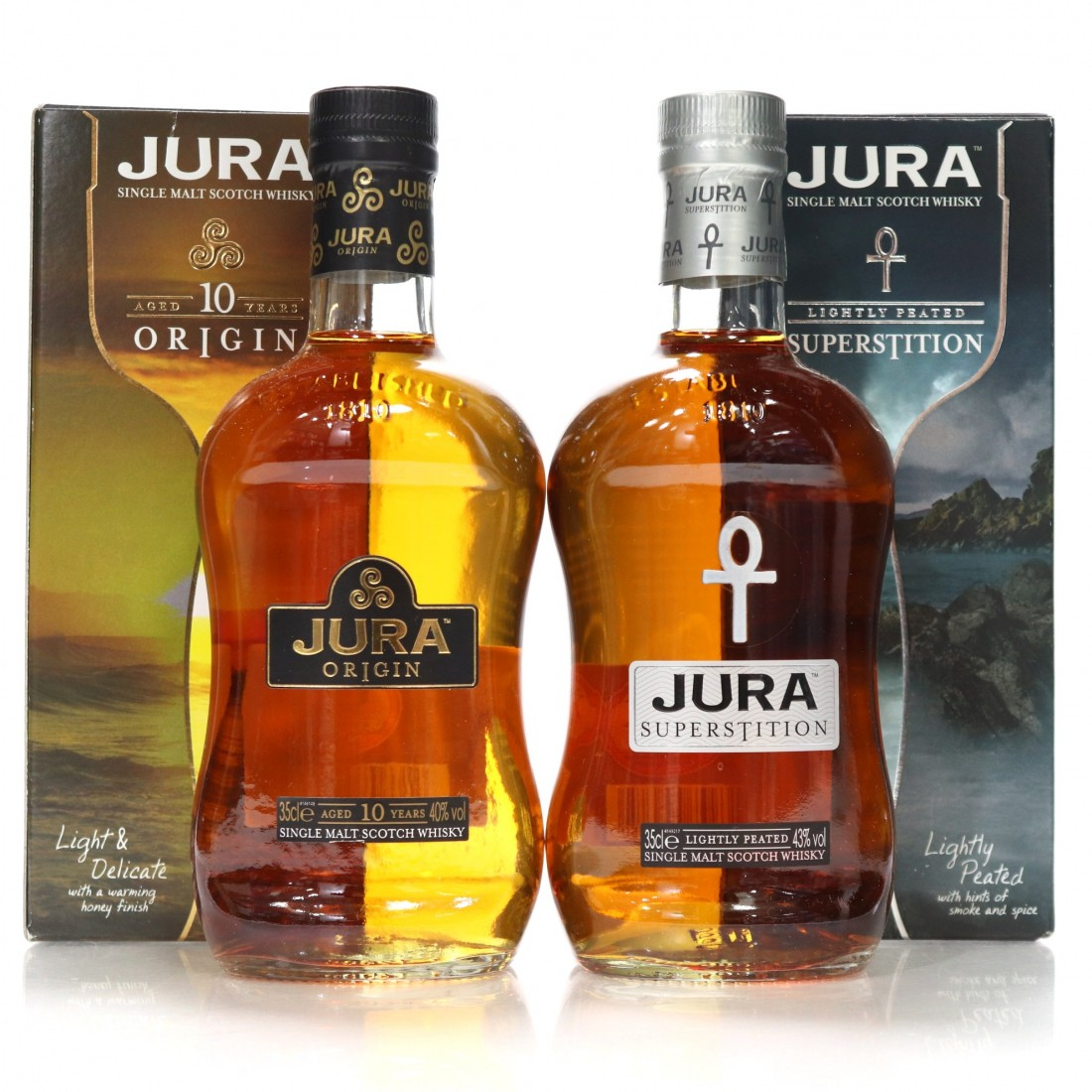 Jura 10 Year Old & Superstition 2 x 35cl