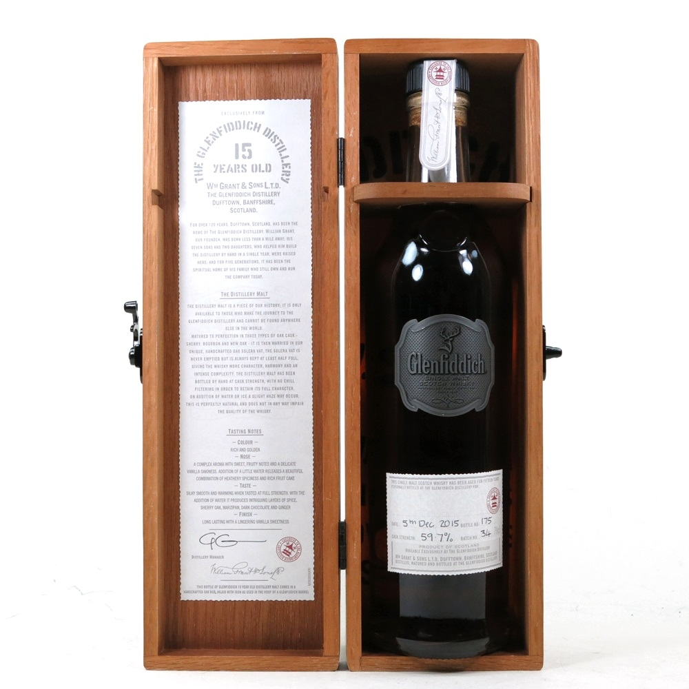 Glenfiddich 15 Year Old Distillery Exclusive - Hand Filled Batch #34 open