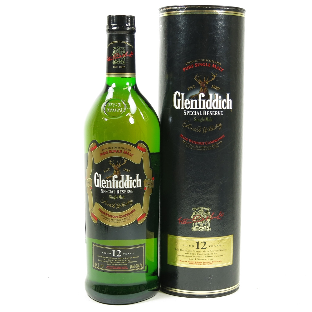 Glenfiddich 12 Year Old Special Reserve 1 Litre Front