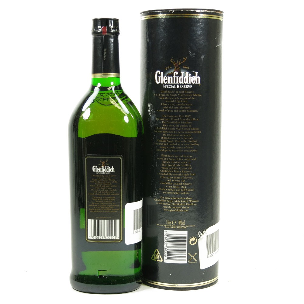 Glenfiddich 12 Year Old Special Reserve 1 Litre Back