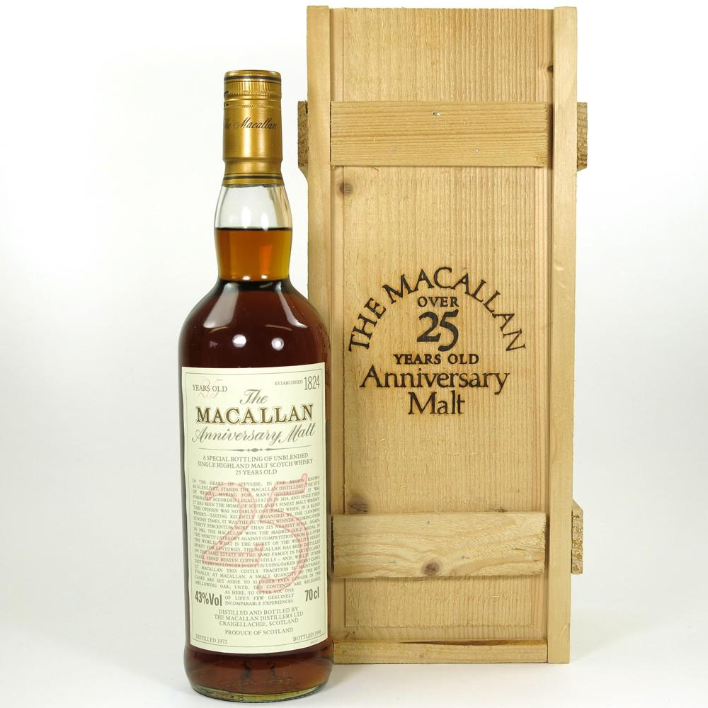 Macallan 1972 Anniversary Malt 25 Year Old