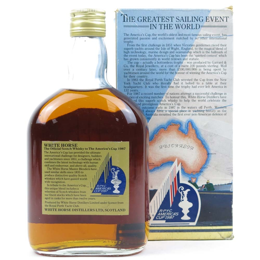 White Horse America's Cup Scotch Whisky 1987