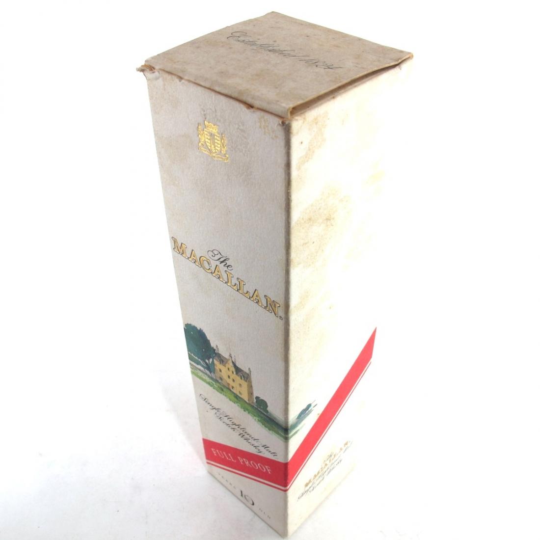 Macallan 10 Year Old Full Proof 1980s / Giovinetti Import