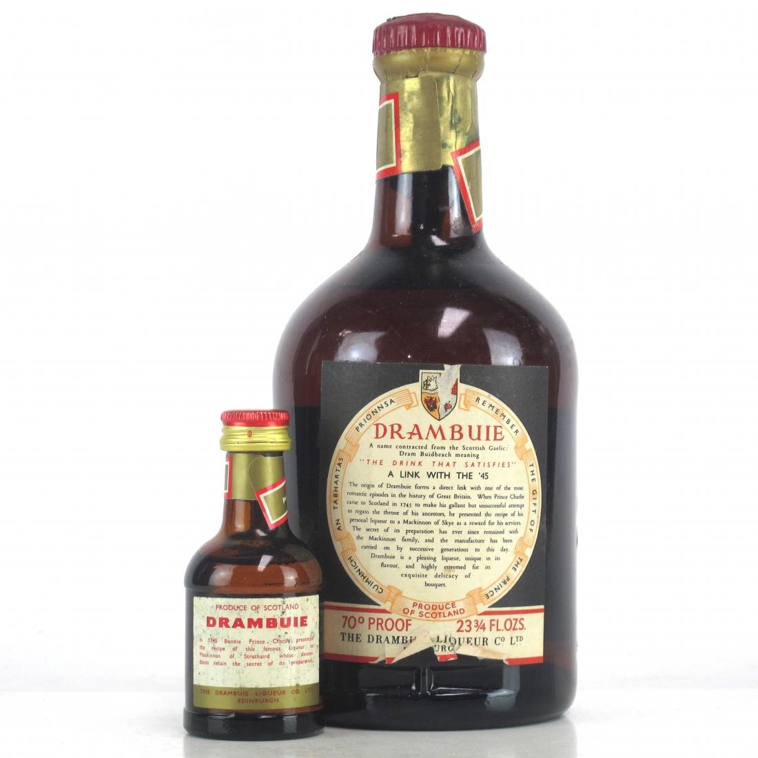 Drambuie Liqueur 1970s / with Miniature