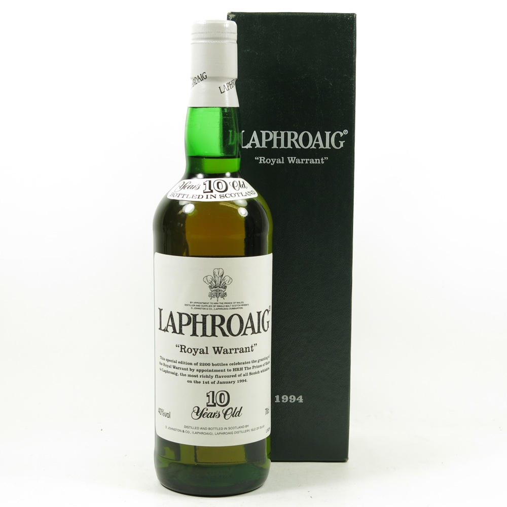 Laphroaig Royal Warrant 10 Year Old