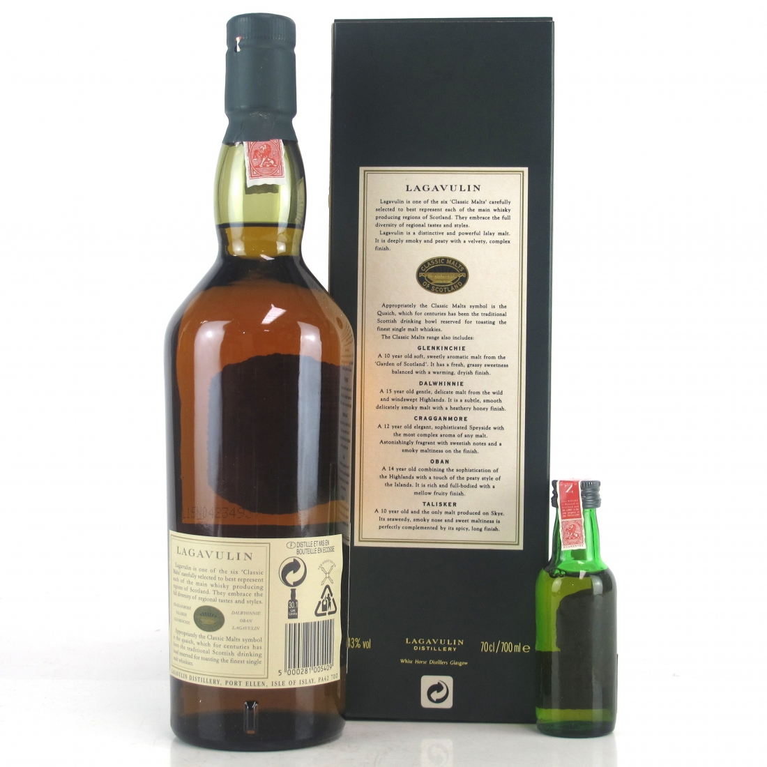 Lagavulin 16 Year Old White Horse Bottling / with Miniature 5cl