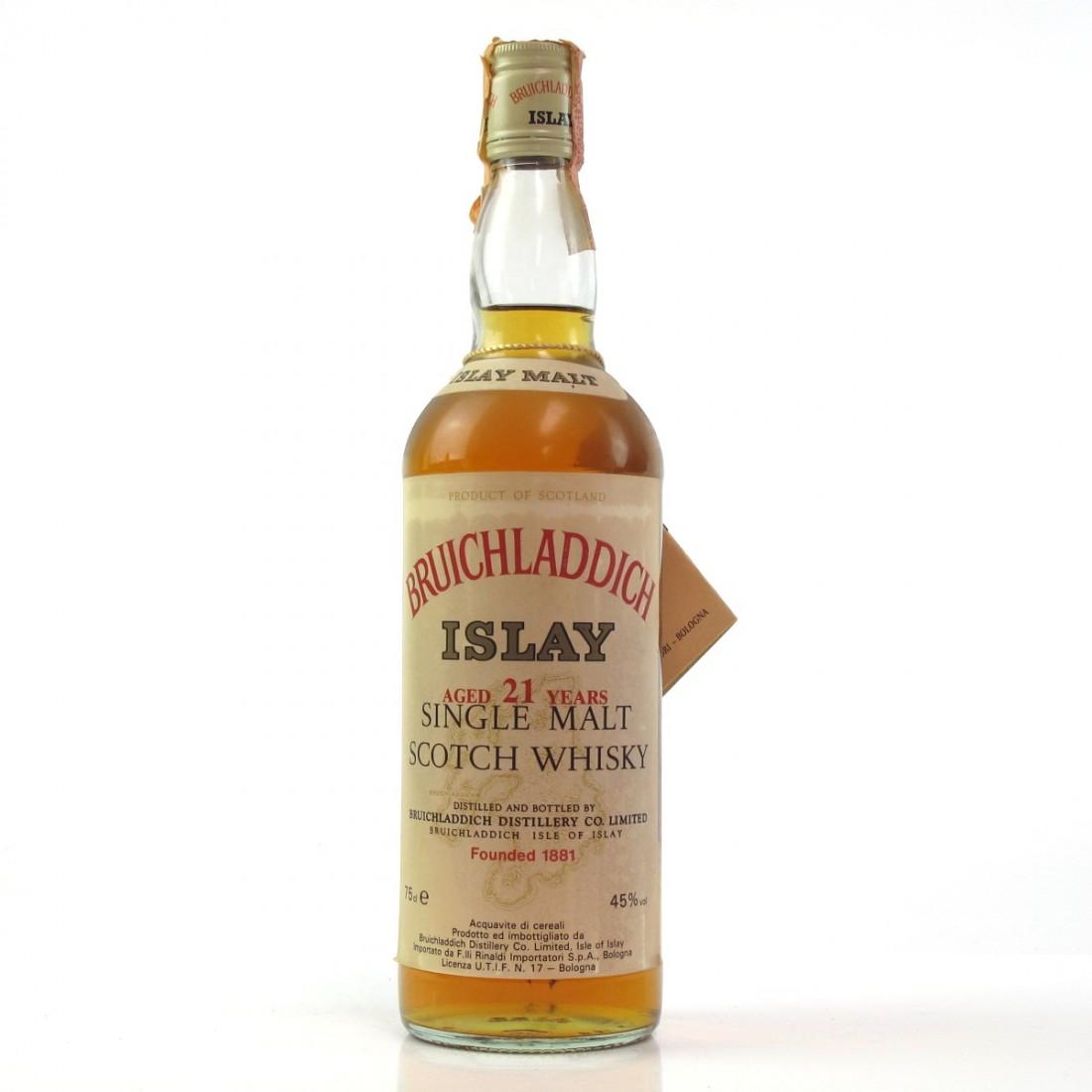 *Bruichladdich 21 Year Old Rinaldi Import