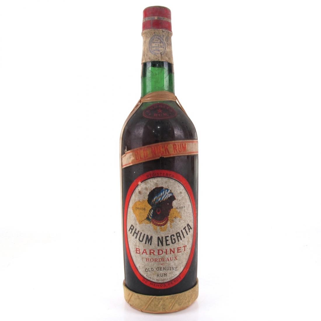Negrita Rhum Berdinet Rum 1950s