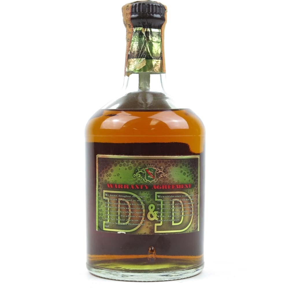 Desmond and Duff 12 Year Old Import Blend 1970s