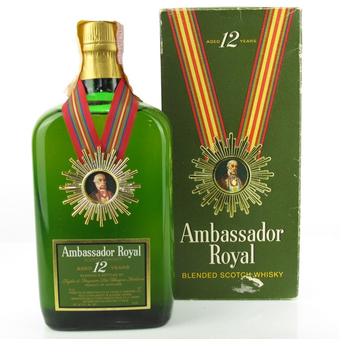 Ambassador Royal 12 Year Old 1970s / Pedro Domecq Italia Import