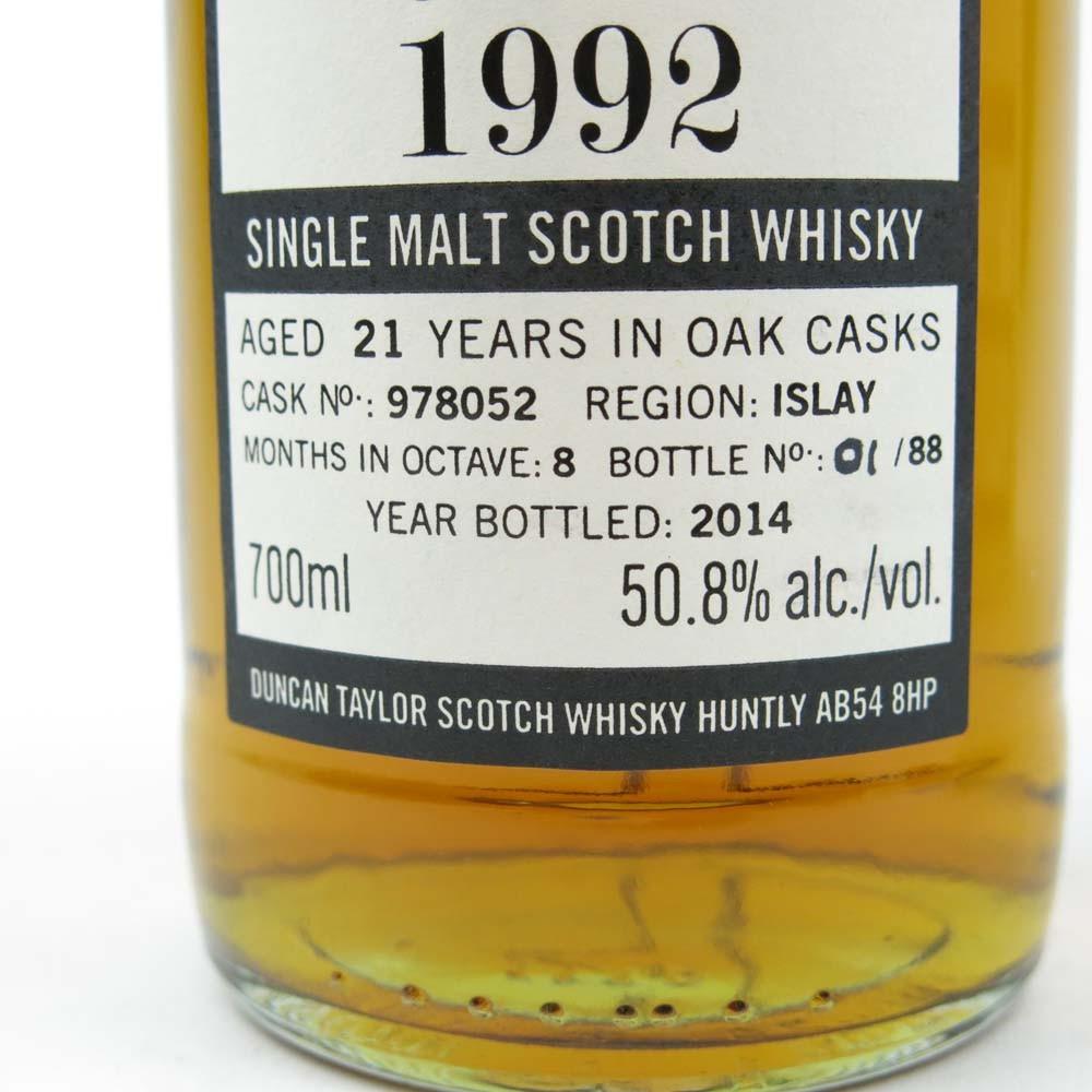 Bruichladdich 1992 Duncan Taylor 21 Year Old / Octave / Bottle # 1