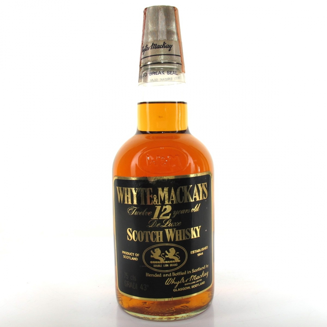 Whyte and Mackay 12 Year Old 1980s