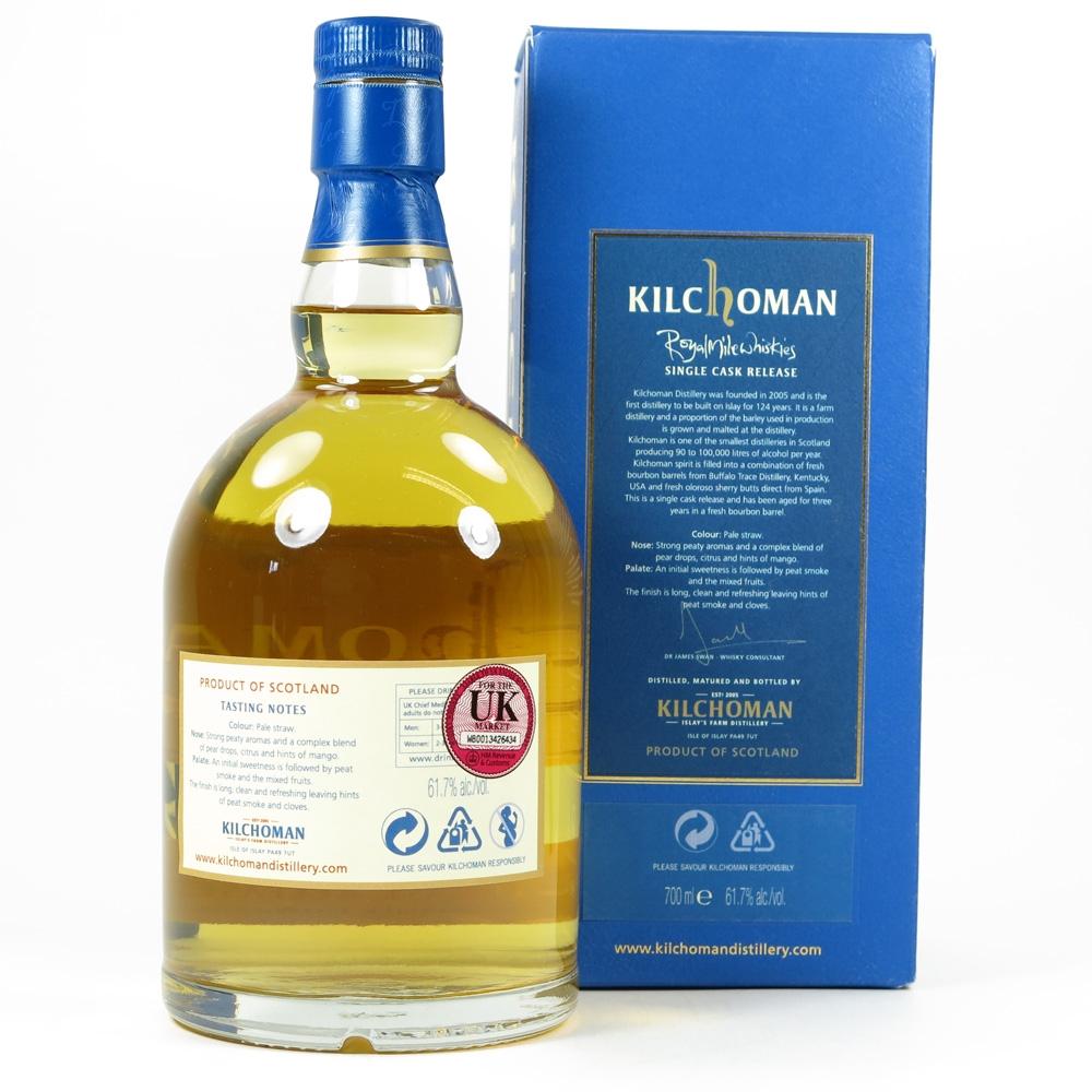 Kilchoman 2007 Single Cask Royal Mile Whiskies Back