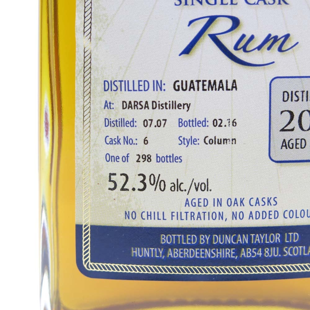 Darsa 2007 Duncan Taylor 8 Year Old Guatemalan Rum
