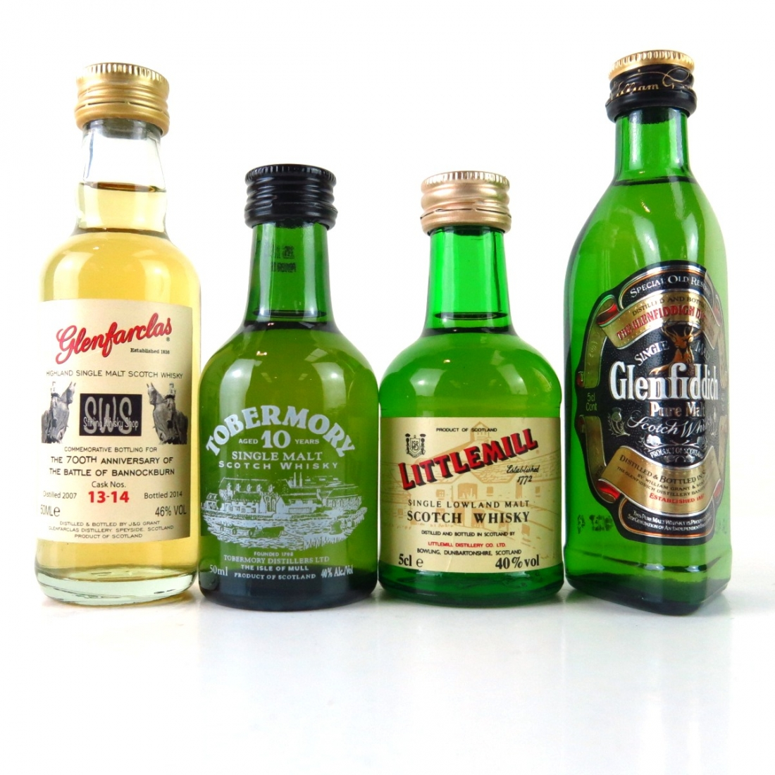 Miscellaneous Whisky Miniature Selection / 4 x 5cl