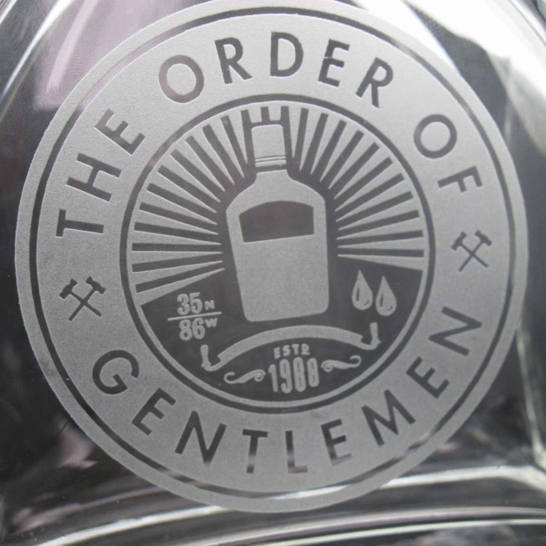 The Order of the Gentlemen Decanter and Glass Hip Flask