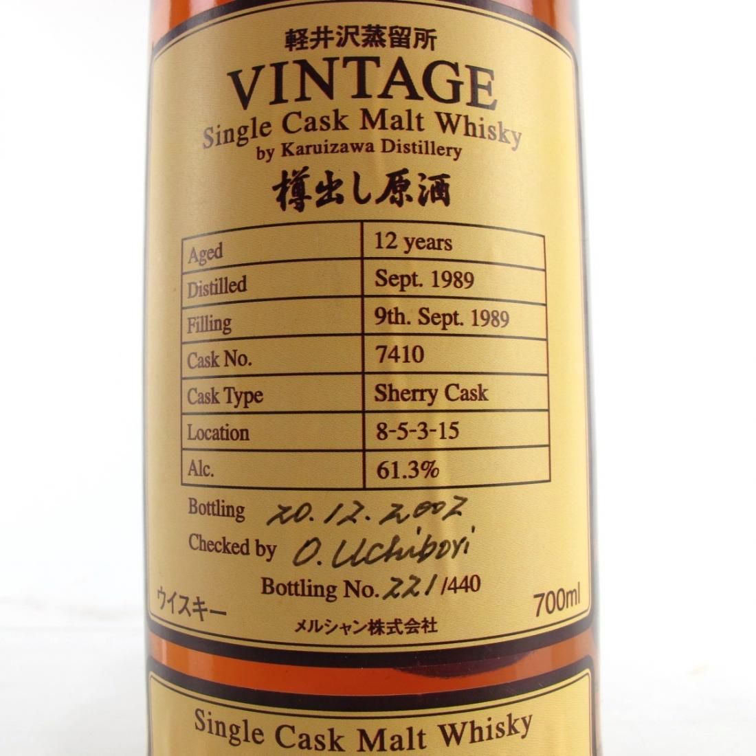 Karuizawa 1989 Single Cask 12 Year Old #7410