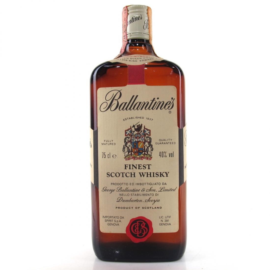 Ballantine's Finest Scotch Whisky 1980s / Spirit Import