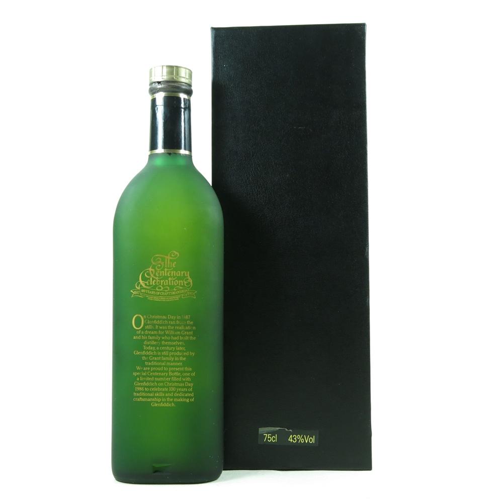 Glenfiddich Centenary Limited Edition back