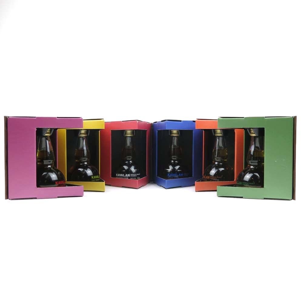 Kavalan 'Hexagon' Pot Still Miniature Selection 5 x 6cl