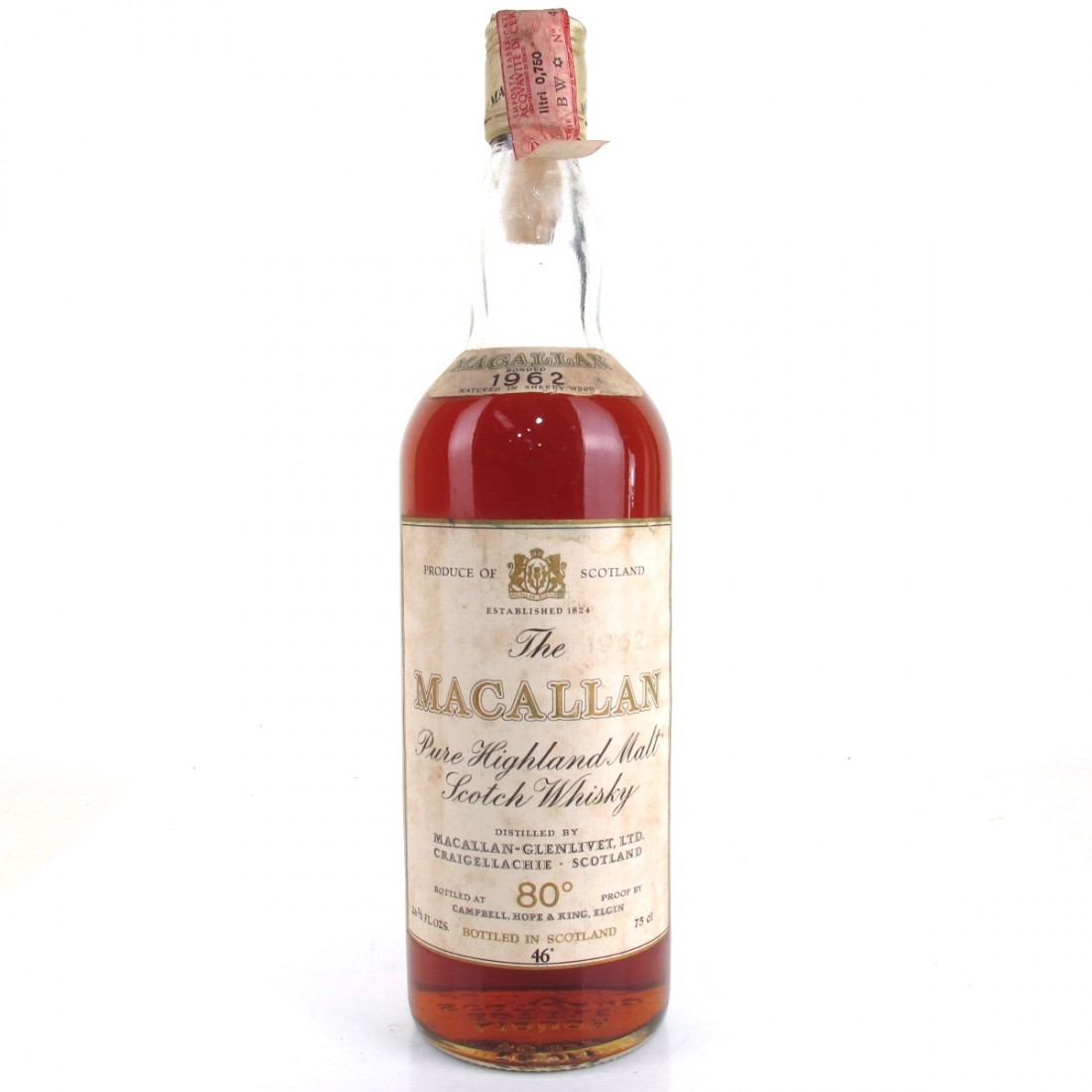 Macallan 1962 Campbell, Hope and King / Rossi Import