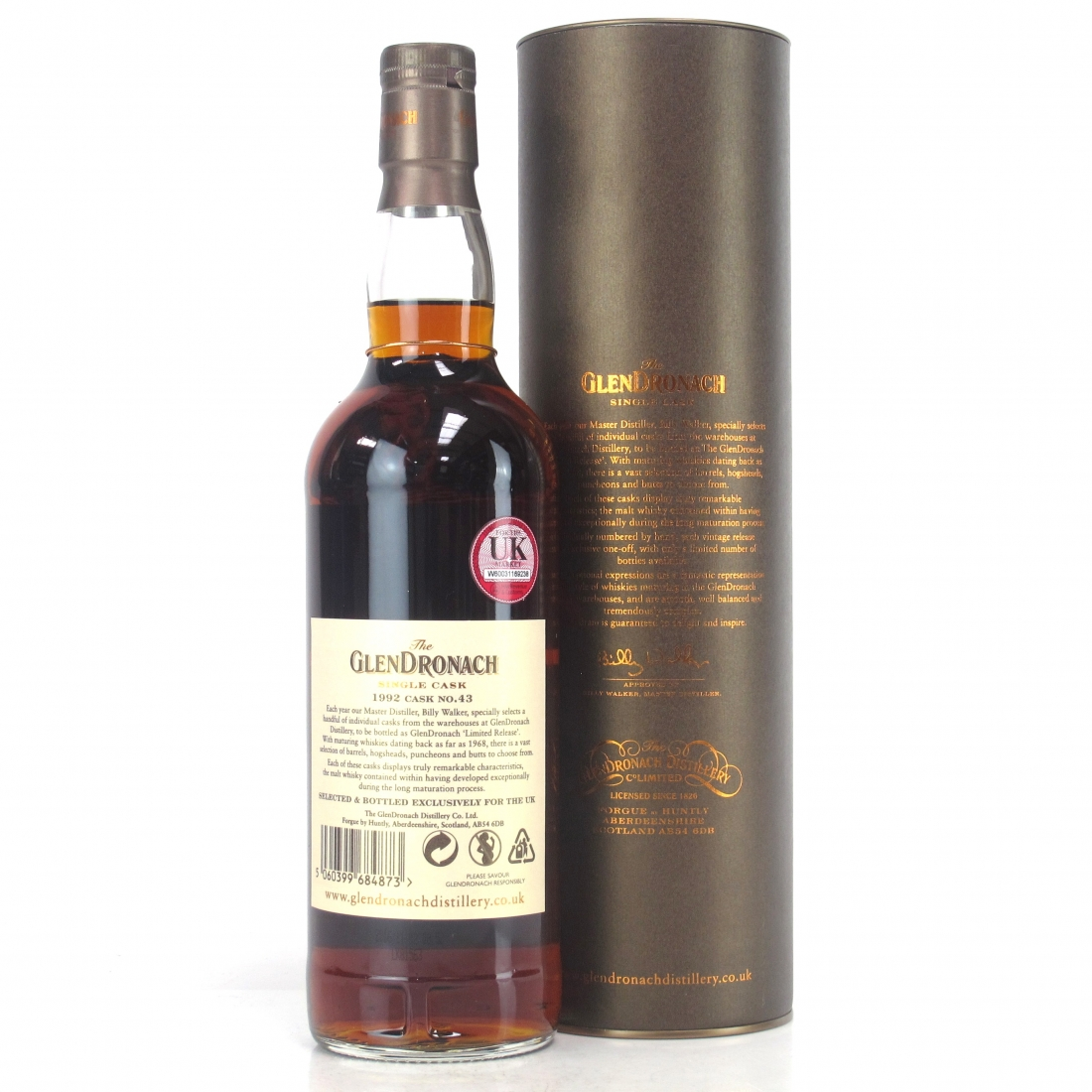 Glendronach 1992 Single Cask 24 Year Old #43 / UK Exclusive