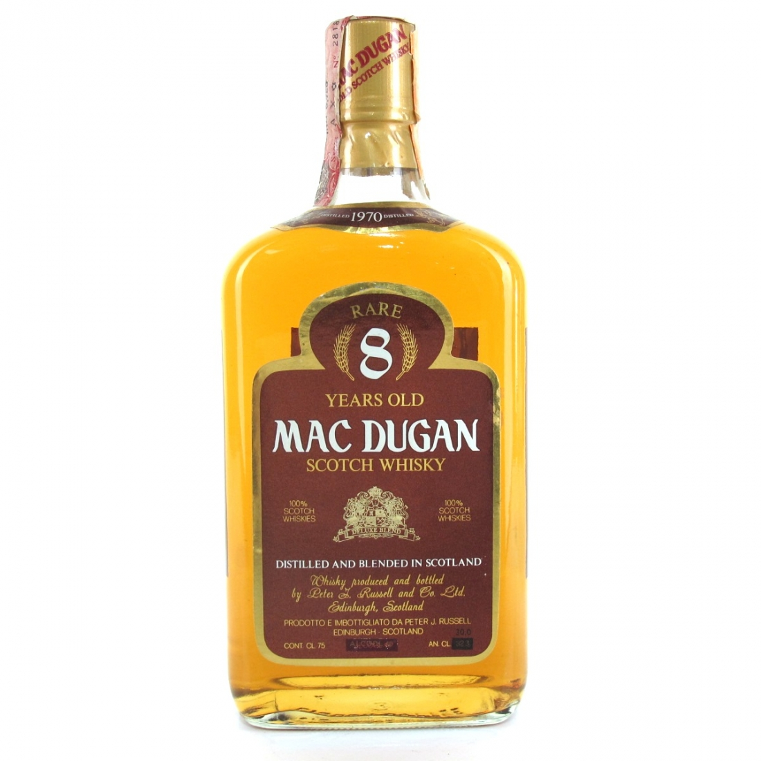Mac Dugan 1970 8 Year Old Scotch Whisky