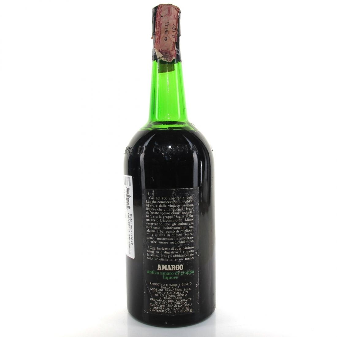 Amargo Antico Amaro di Grappa 1970s