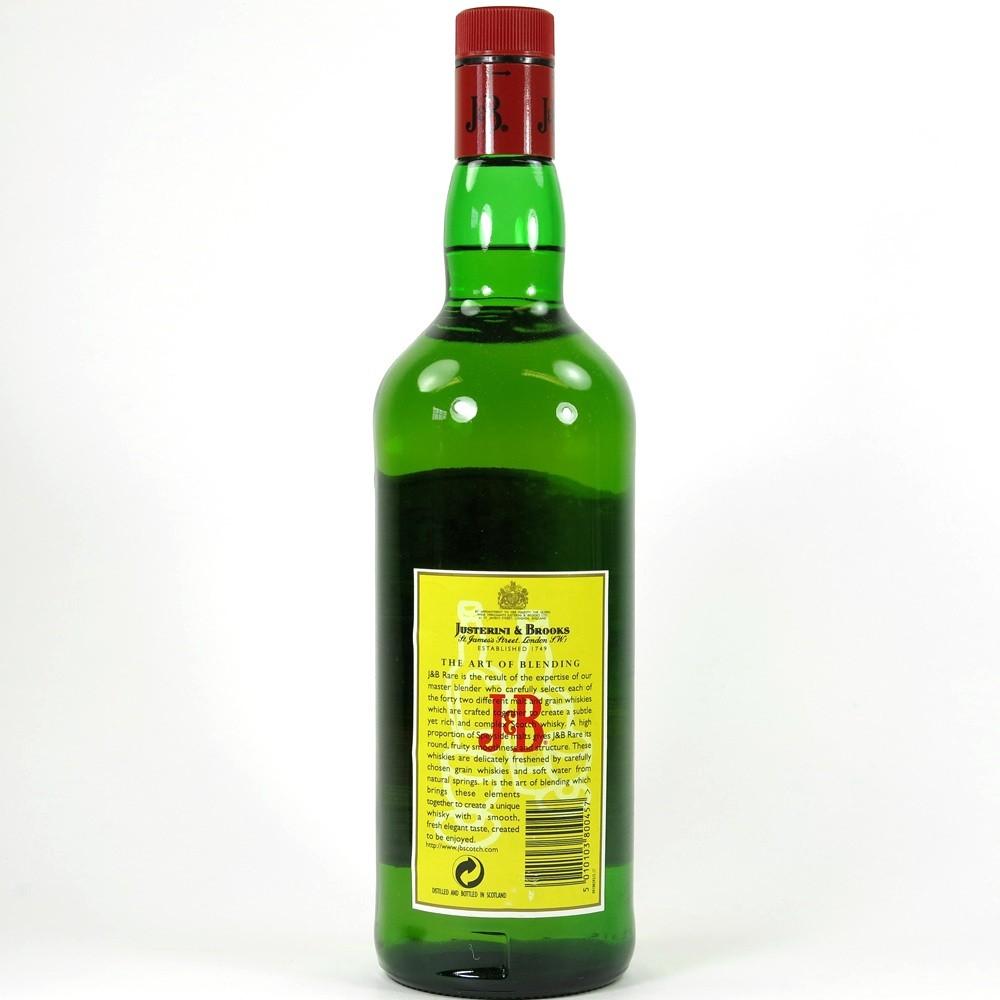 J&B Rare 1 litre Back