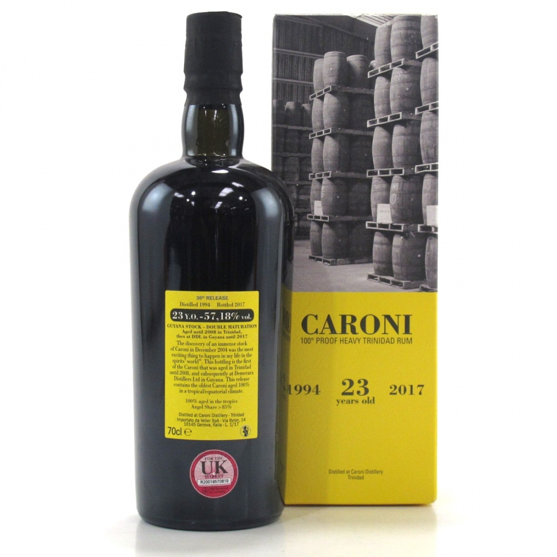 Caroni 1994 Guyana Stock 23 Year Old 100 Proof Heavy Trinidad Rum