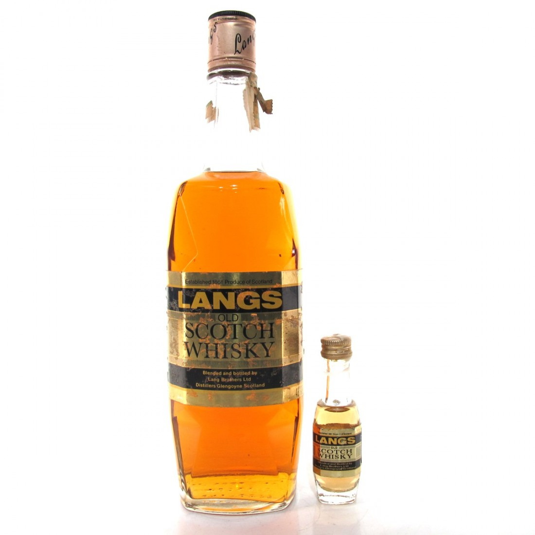 Langs Old Scotch Whisky 1980s / Including Miniature