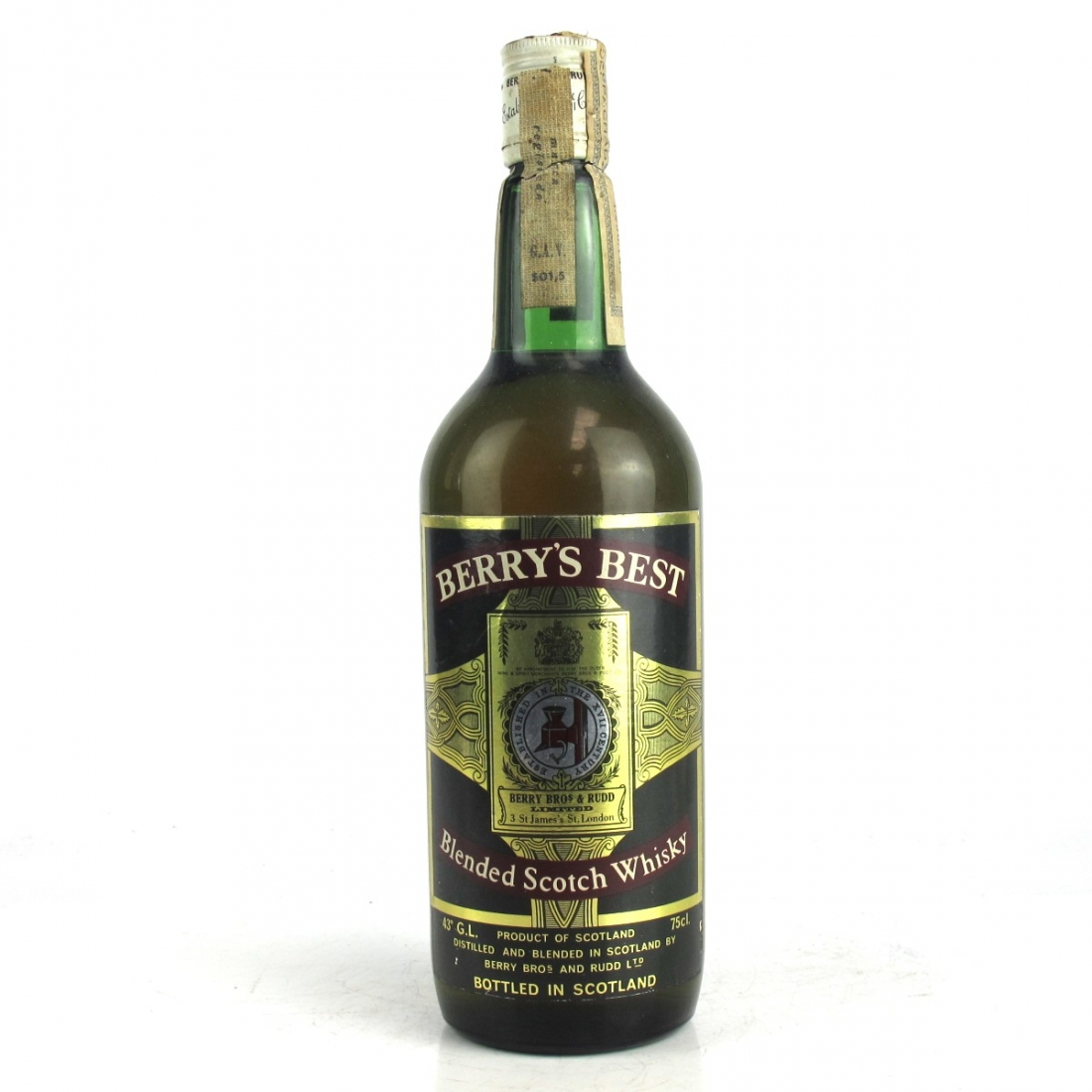 Berry's Best Blended Scotch Whisky Circa 1970s