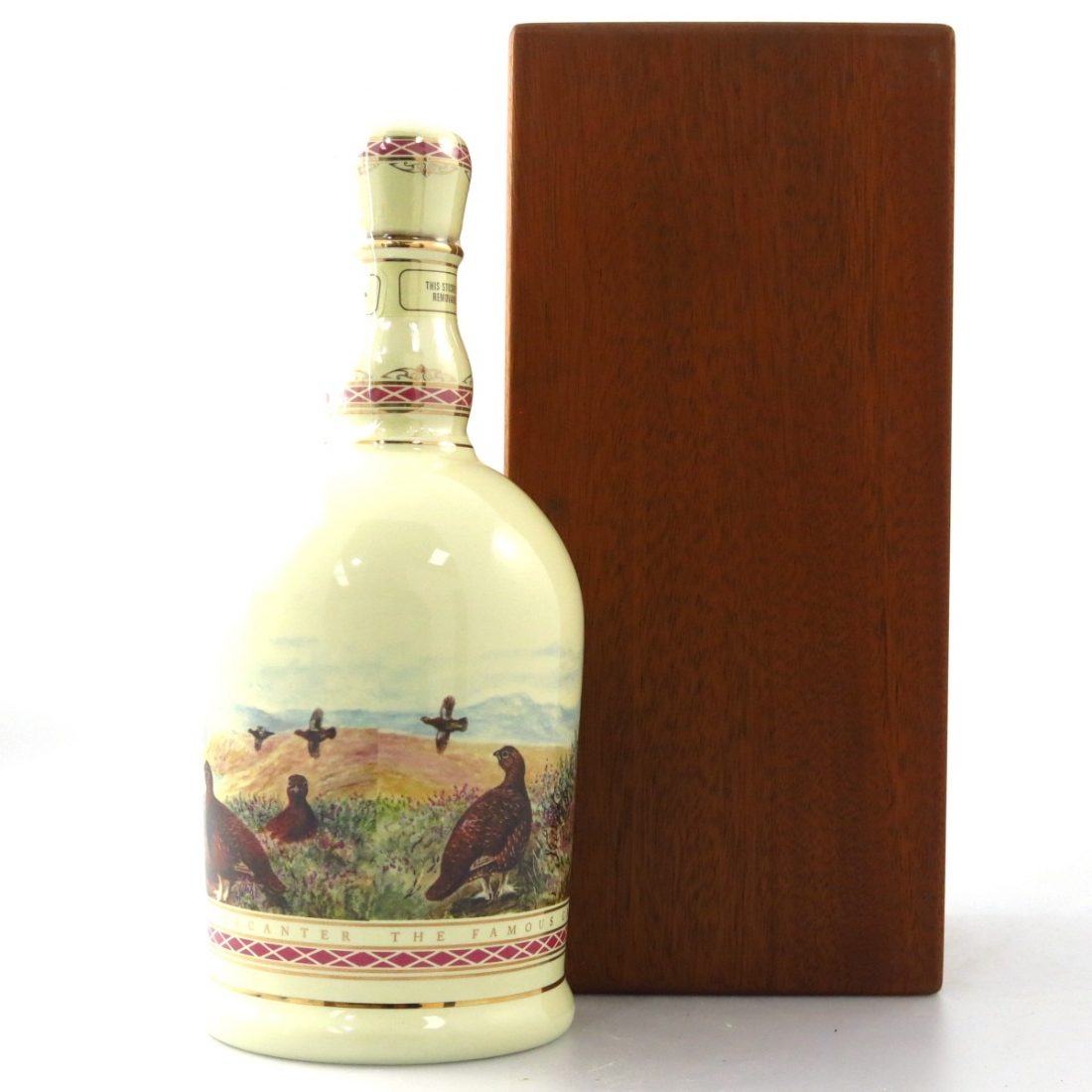 Famous Grouse Highland Decanter / 100 Years Wooden Box