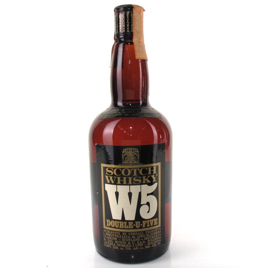 W5 Double U Five Scotch Whisky 1980s