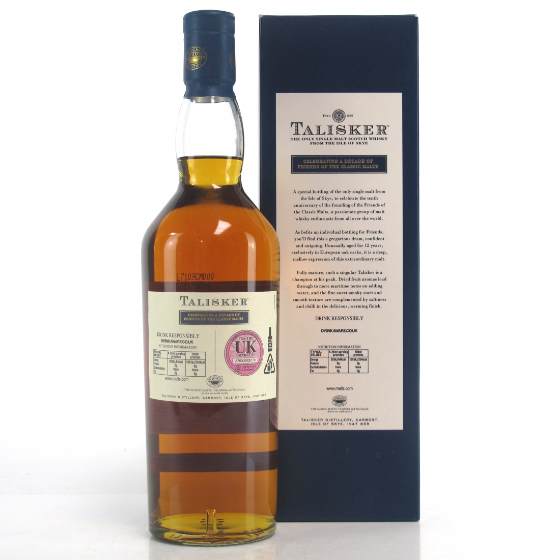 Talisker 12 Year Old / A Decade of the Friends of the Classic Malts