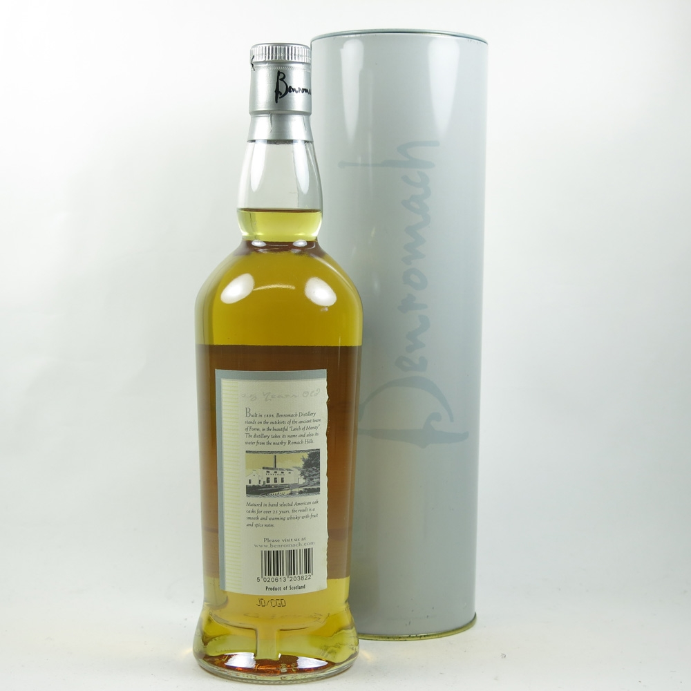 Benromach 25 Year Old back